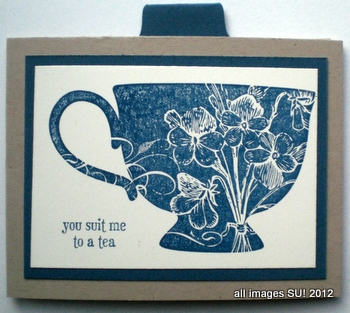 Stampin Up Tutorial For Tea Shoppe Invitation Card