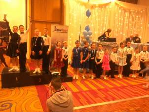Sean and Megan extending their collection , winning 5 Dance Latin !