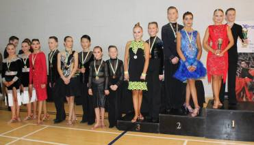 Sean&Megan (age 12&10) in their first ever 3 dance Under16 International latin competition in 4th place !