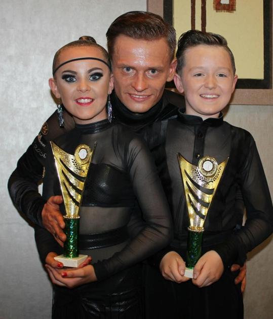 Wojtek with Sean and Megan