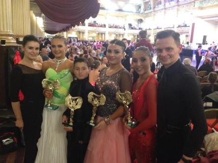 Junior Team winning ALL their events in Ballroom and Latin in all the highest levels