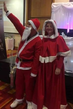 Santa and Mrs.Claus ready to meet the children :)