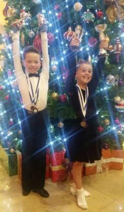 Elliot and Avah - happy Champions