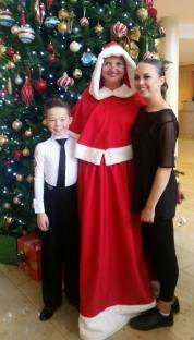 Mrs.Claus with Elliot and Shannon