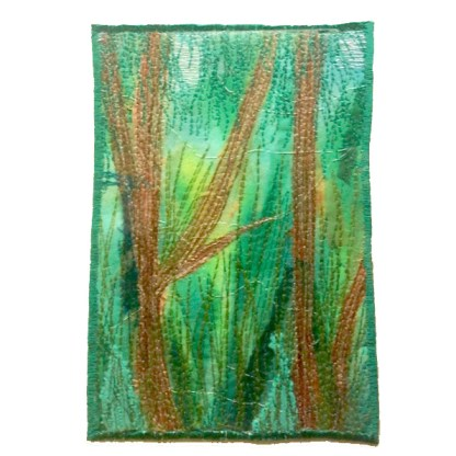 Rainforest Abstract Embroidery by Tamara Russell - Karhina.com