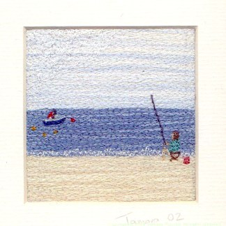 Fishing - Freehand machine embroidery by Tamara Russell – Karhina.com
