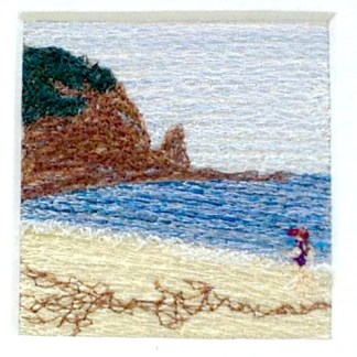Swimming Freehand machine embroidery using landscape images to create amazing wall art – Tamara Russell – Karhina.com