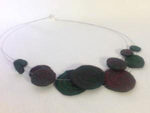 Sparkles Dark Green Necklace