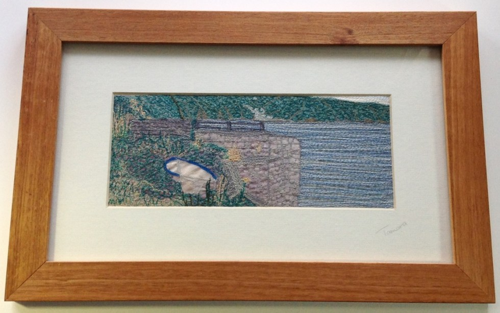 The Boat - Freehand machine embroidery by Tamara Russell – Karhina.com