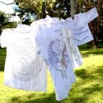 Men, Women & Children -They sought refuge – Hand stitching on shirts by Tamara Russell – Karhina.com