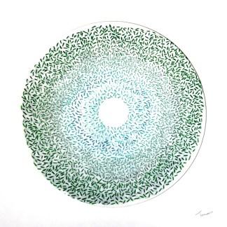 Green nebula - Hand stitching by Tamara Russell – Karhina.com