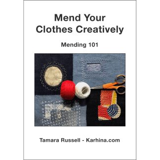 Mend Your Clothes Creatively - Mending 101 e-book