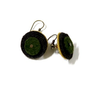 Reborn earrings from reclaimed and upcycled materials - karhina.com