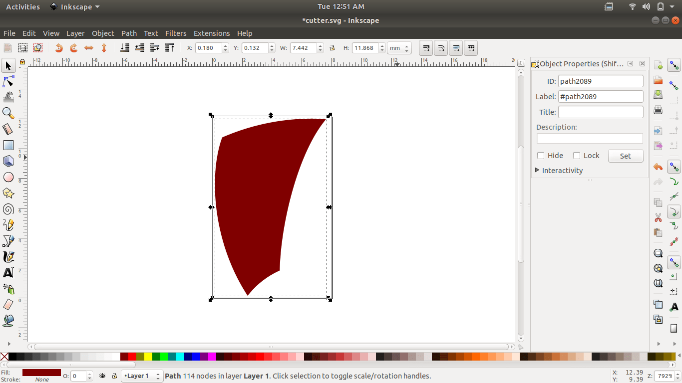 Exporting Inkscape SVG Graphics into Openscad using a Python