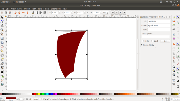 inkscape file to export