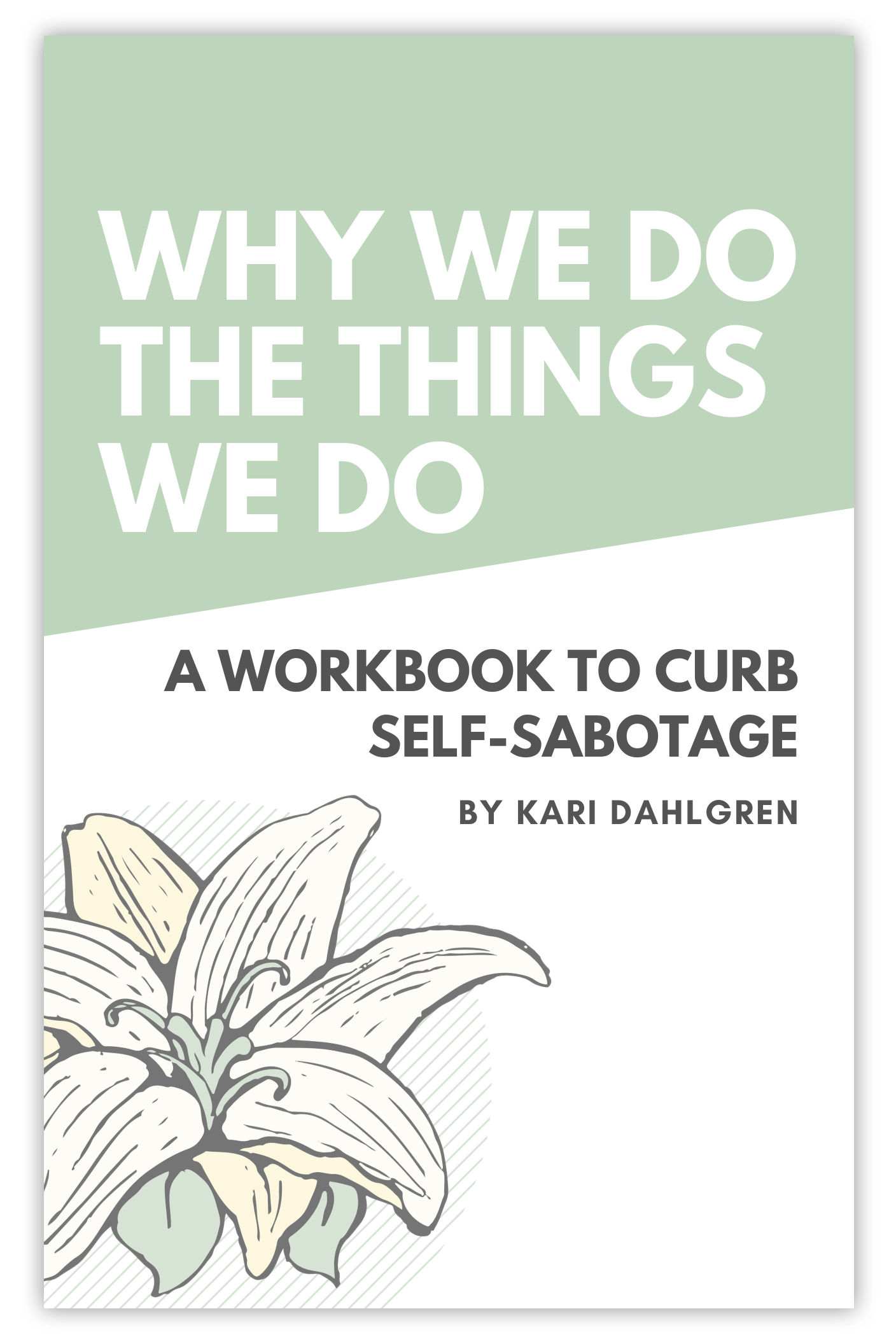 Why We Do The Things We Do A Workbook To Curb Self
