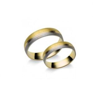 Sárga és Fehérarany karikagyűrű K8