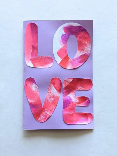 LOVE DIY Valentines Day card