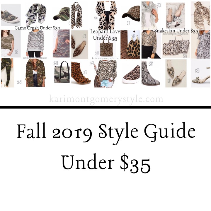 Fall Style Guide: Leopard, Snakeskin & Camo Under $35