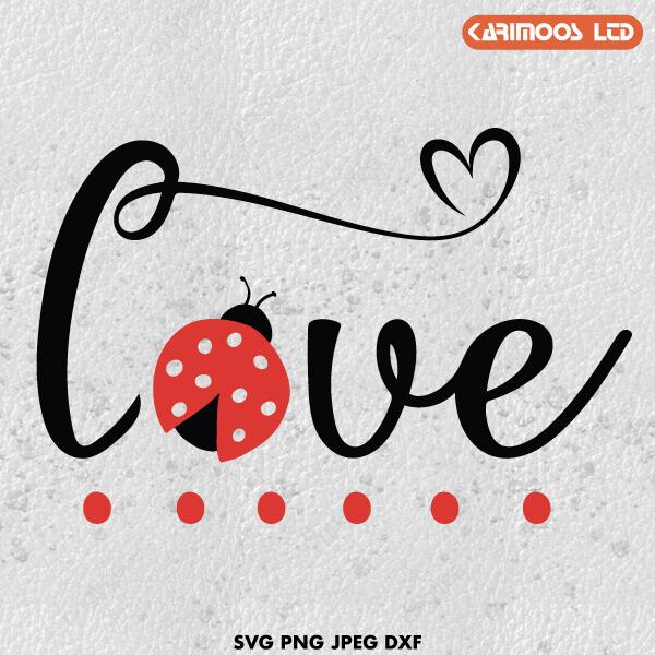 Download Love bug SVG cut file | Karimoos