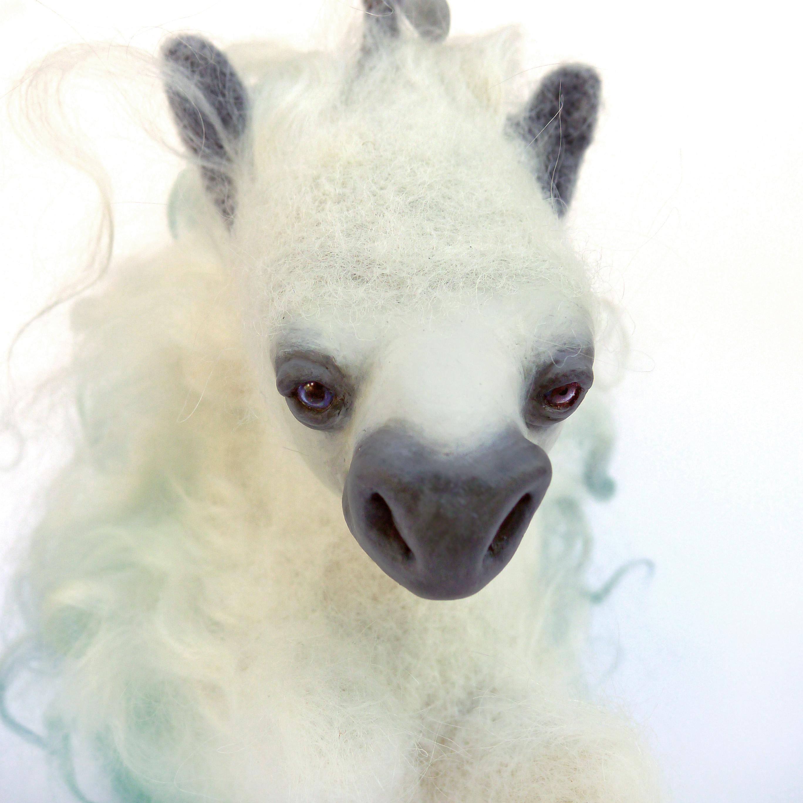 Sea Horse needle felted sculpture animal - Karina Kalvaitis