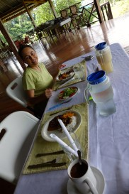 Dining at Iwokrama Research Station, Guyana -- Karina Noriega