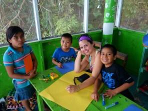 Making Christmas cards, 4th visit to Casa Guatemala, Rio Dulce, Guatemala - Karina Noriega