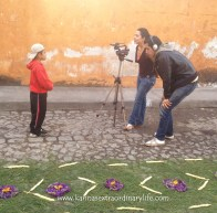 Alex and Karina get the children to share their favourite moments. Antigua, Guatemala -- April Beresford