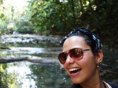 Hiking up the river to the waterfalls of Siete Altares, Guatemala -- Karina Noriega