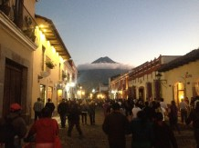 The impressive Volcan de Agua. Antigua, Guatemala -- April Beresford