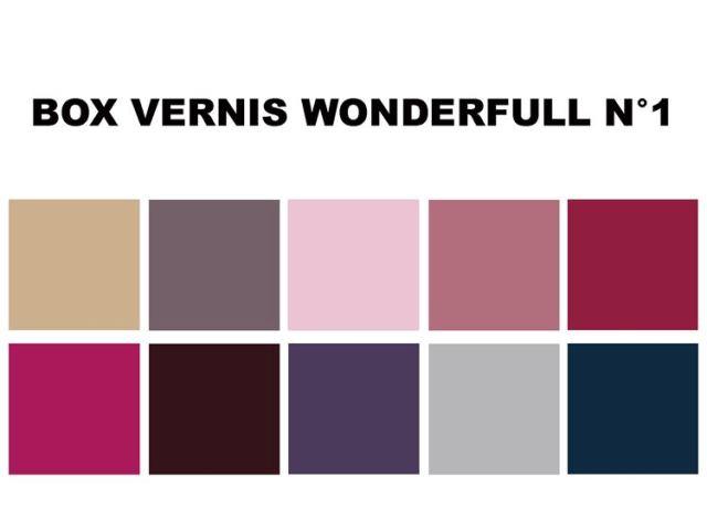 BOX NOEL VERNIS WONDERFUL couleur onikha