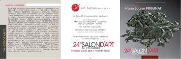 INVITATION RECTO ET VERSO SALON ART DU COLOMBIER 2018 ST ARNOULT 2