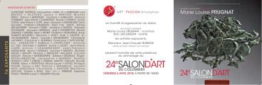 INVITATION RECTO ET VERSO SALON ART DU COLOMBIER 2018 ST ARNOULT 2