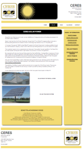 Ceres Wind and Solar Web Page