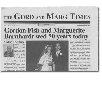 The Gord and Marg Times Newspaper