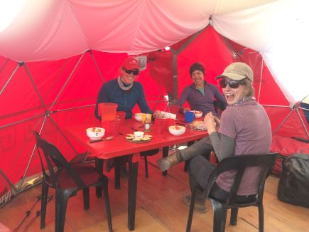 Dinner at Plaza Argentina, basecamp on Aconcagua via the 360 route