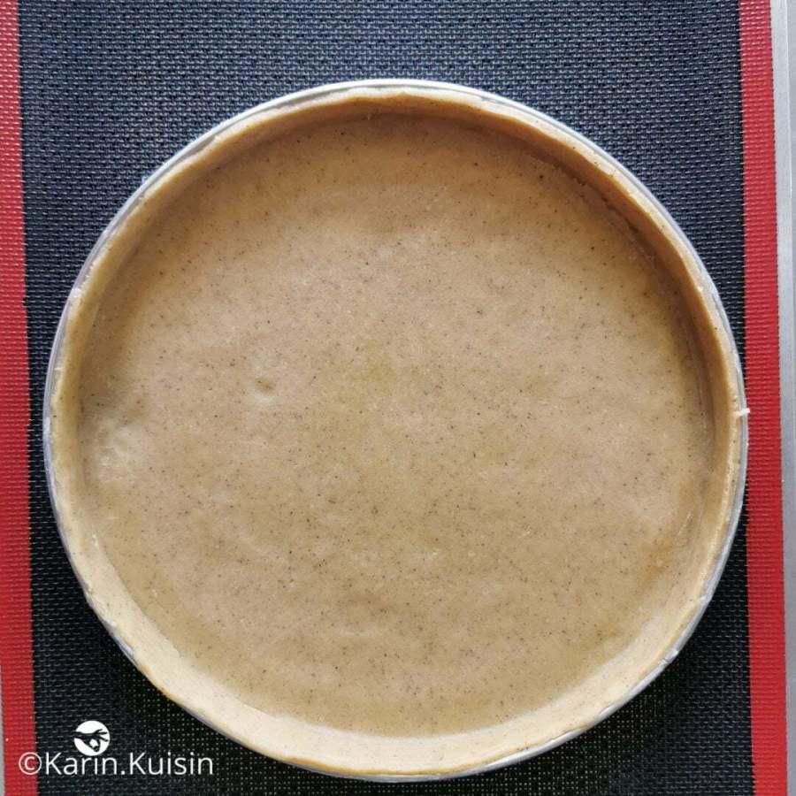 pâte sucrée foncer cercle