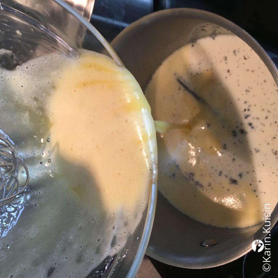 mélange casserole verser