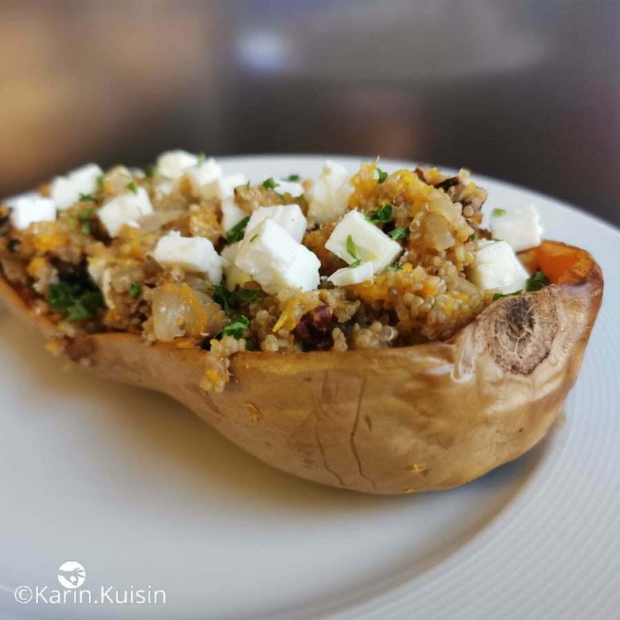 courge quinoa feta noix pécan
