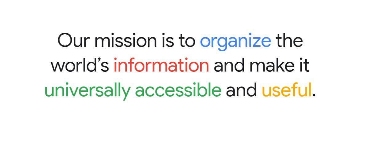 mission statement ala Google