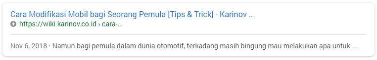 contoh hasil web amp di google