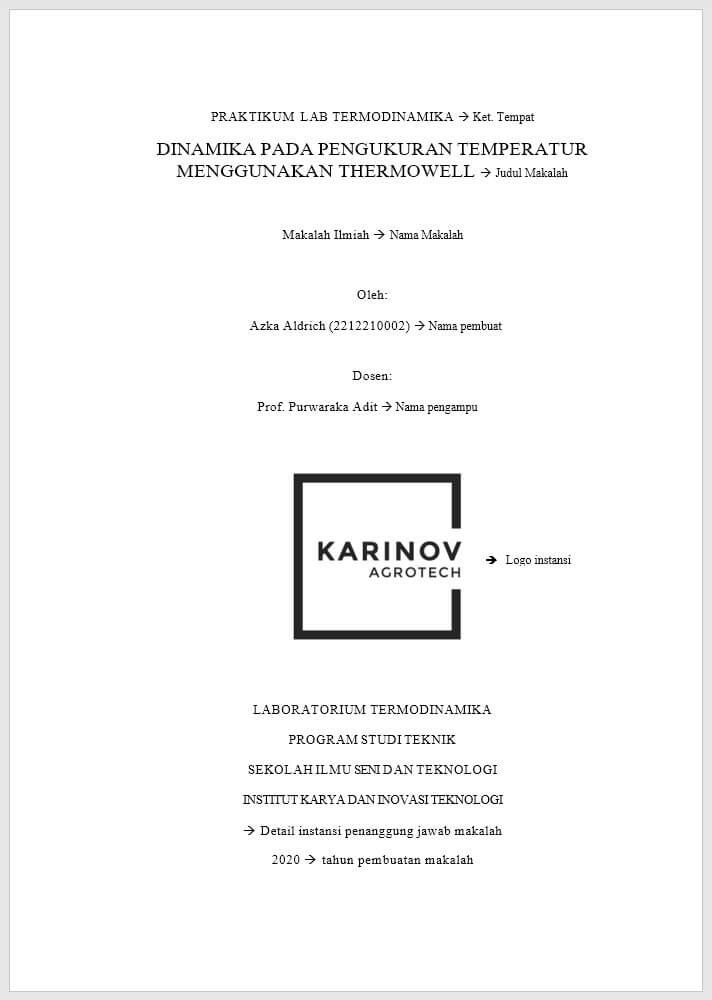 Contoh Makalah Ilmiah Kerangka Dan Langkah Langkah Pembuatannya Karinov Co Id
