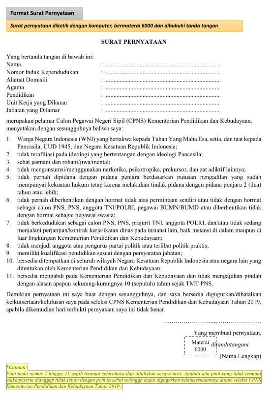 14++ Contoh surat pernyataan doc terbaru yang baik
