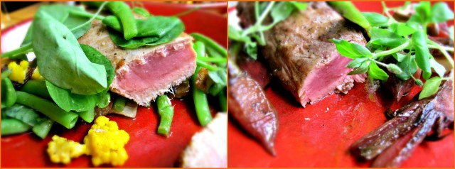 The sublime tuna and Picanha meat and perfectly cooked.