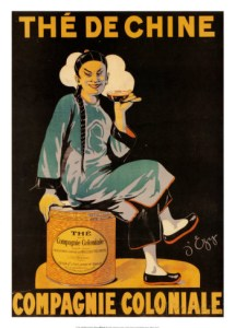 compagnie coloniale french tea the francais poster affiche 3