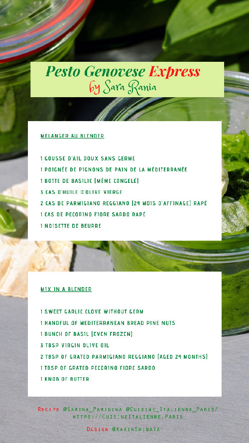 Recipe Pesto Genovese Express Sara Rania