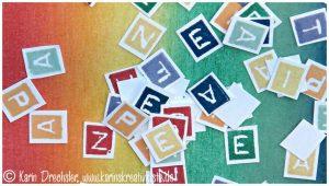 Einzelne Buchstaben Frieden Peace