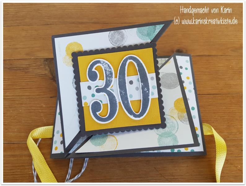 geldgeschenk karte zum 30 geburtstag karin 39 s kreativkiste. Black Bedroom Furniture Sets. Home Design Ideas