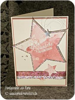 23 Karte Zarte Pflaume Sterne