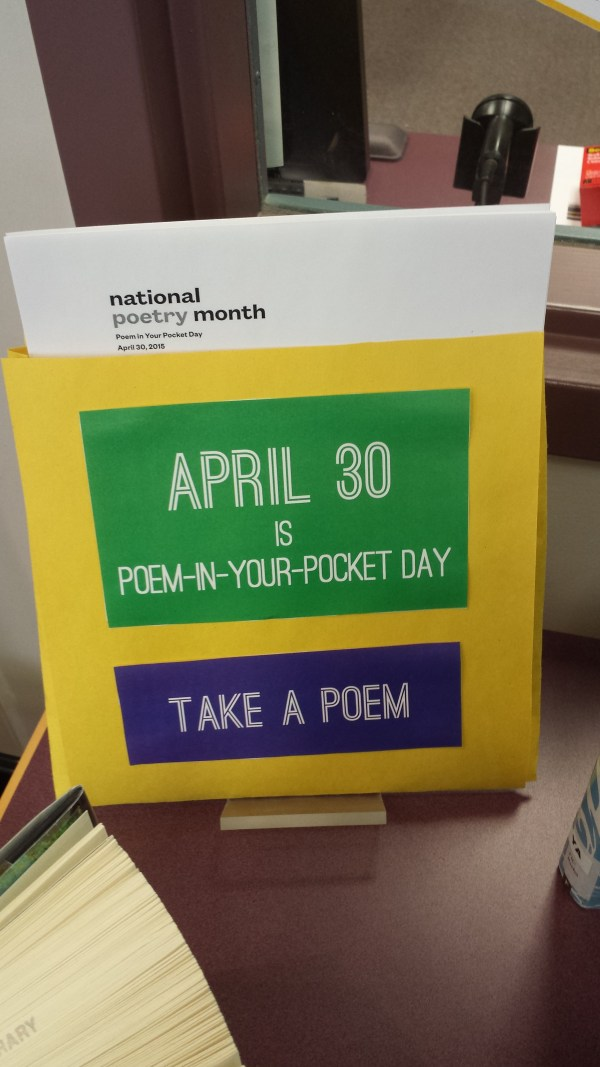 National Poetry Month Library Displays